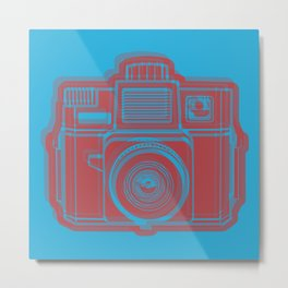 I Still Shoot Film Holga Logo - Blue & Red Metal Print