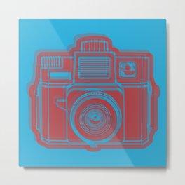 I Still Shoot Film Holga Logo - Blue & Red Metal Print