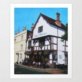 Duke of Wellington Tudor pub Southampton Art Print