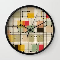bedding Wall Clocks featuring embrace uncertainty by spinL