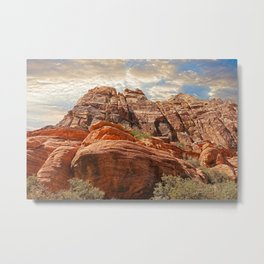 Magnificent Red Rock Canyon large red rock formations Las Vegas Nevada USA Metal Print