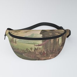 Ulysses Farewell to Penelope Seaport Landscape by Rex Whistler Fanny Pack