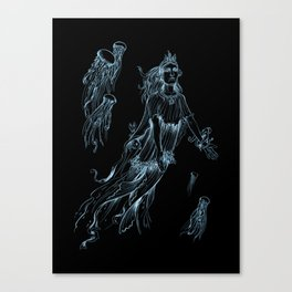 Sea Posse III - Jellyfish Canvas Print