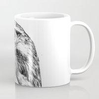 hawk Mugs featuring Hawk by Emma Dowling