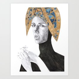 Female Illustration Art Print