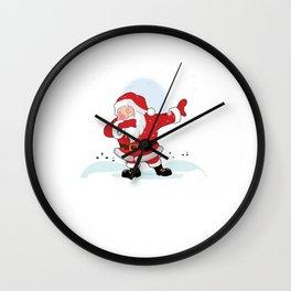 Dabbing Santa Claus Dab Dabber Xmas Christmas Wall Clock