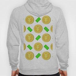 Chinese Yuan pattern background. Hoody