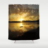 golden Shower Curtains featuring Golden by NaturallyJess