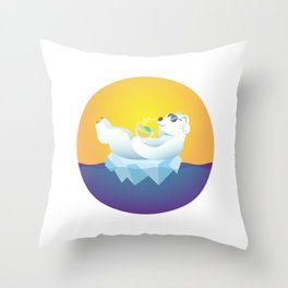 Tropical Iceland Throw Pillow