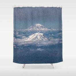 Mount Adams Mt Rainier - PNW Mountains Shower Curtain