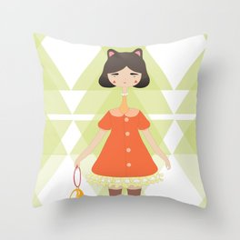 Meow meow Throw Pillow