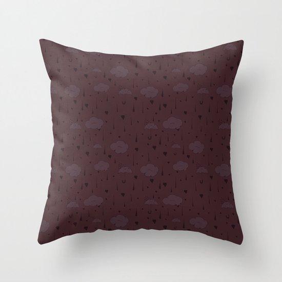 Rainy Love Throw Pillow
