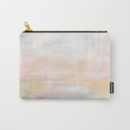 Ecstatic - Pink and Yellow Pastel Seascape Carry-All Pouch