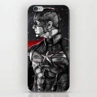 avenger iPhone & iPod Skins featuring First Avenger by p1xer