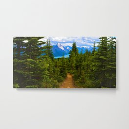 Maligne Lake from Above on the Bald hills hike in Jasper National Park, Canada Metal Print