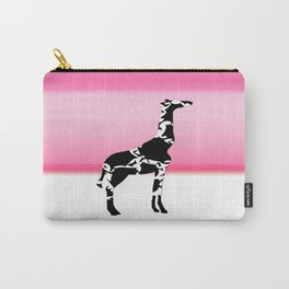 Giraffe in pink Carry-All Pouch