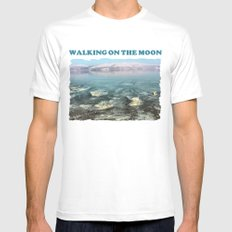 Walking on the moon Mens Fitted Tee White MEDIUM