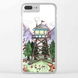 Mountain Lookout Clear iPhone Case