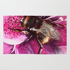 Bee on flower 13 Rug