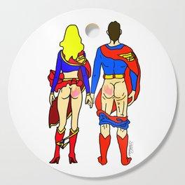 Superhero Butts Love 1 - Super Birds Cutting Board