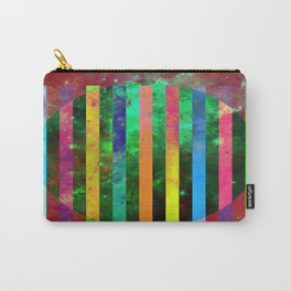 Galactic Stripes - Abstract, geometric, space themed artwork Carry-All Pouch
