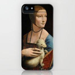Woman with ferret - Leonardo Da Vinci iPhone Case