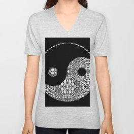 Perfect Balance 2 - Yin and Yang Stone Rock'd Art by Sharon Cummings Unisex V-Neck