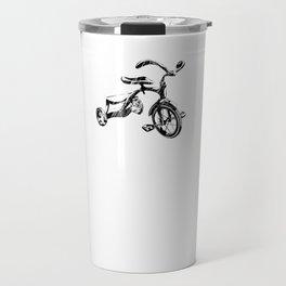 Vintage Tricycle Cycling Retro Nostalgia Bike Black Travel Mug