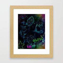 DINOGO GO! GLOW! Framed Art Print