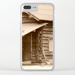 Old Log Cabin Clear iPhone Case