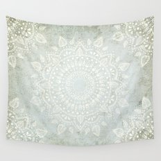 Powder Blue Mandala Wall Tapestry