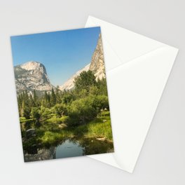 Half Dome over Mirror Lake Stationery Cards