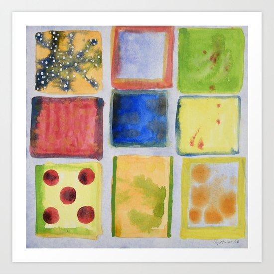Nine Squares Showing Off Art Print