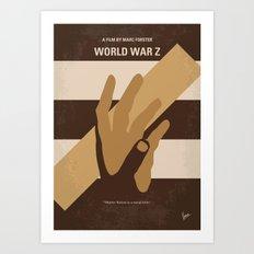 No783 My World War Z minimal movie poster Art Print
