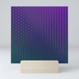 Gradient cube pattern cold Mini Art Print