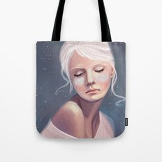 Her Cheeks Glowed with the Constellations of Lovers Tote Bag