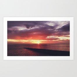 Portulano Sunset Art Print