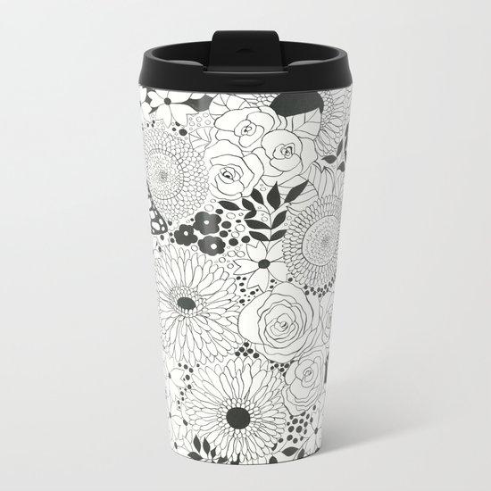 Monarch garden Metal Travel Mug