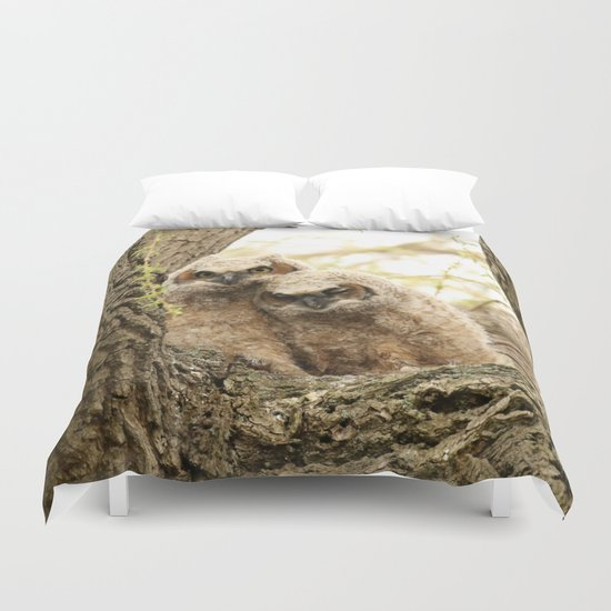 Rest Your Head On My Shoulder Duvet Cover By Thee Owl