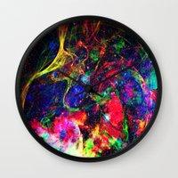 big bang Wall Clocks featuring Big Bang by haroulita