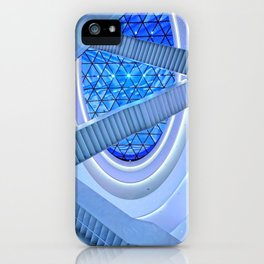 Blue Escalator Art iPhone Case