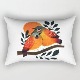 Fluffy Birds Rectangular Pillow