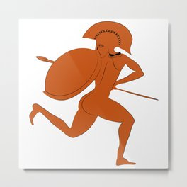 Red Figure Warrior from Vulci Metal Print