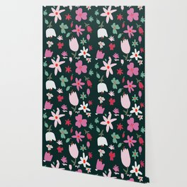 Handmade Out In the Forest Floral Patter Wallpaper