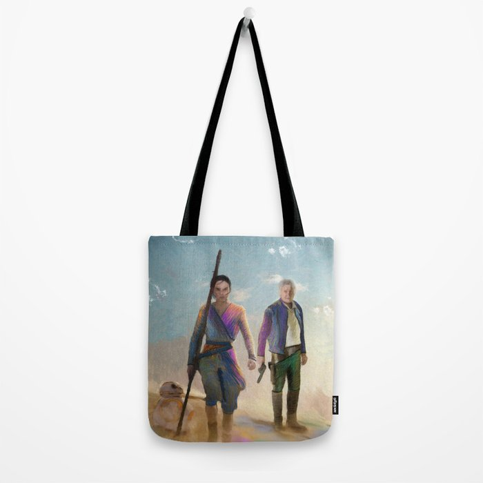 Rey and BB8 Tote Bag