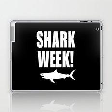 Shark week (on black) Laptop & iPad Skin
