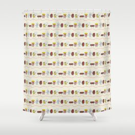 Let's All Go to the Lobby! Shower Curtain