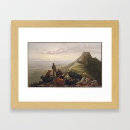 The Belated Party on Mansfield Mountain,1858 Framed Art Print