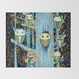 Overnight Owl Conference Throw Blanket