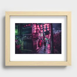 Shibuya Lanterns Recessed Framed Print